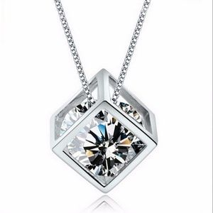 Jewelry - Love Magic Cube 925 Sterling Silver CZ Necklace